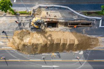 Brunnen statt Bombe in Leipzig entdeckt
