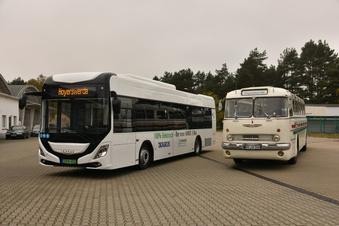 Mit dem E-Bus durch die Stadt