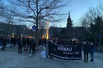 Dresden gedenkt der Opfer von Hanau