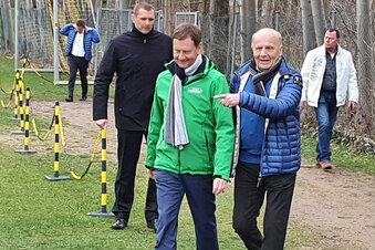 Kretschmer beim Dynamo-Training