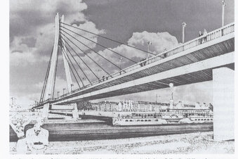 Waldschlößchenbrücke: Der erste Entwurf