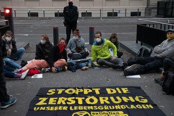 Blockaden im Regierungsviertel