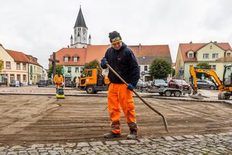 Wittichenauer Marktplatz wird saniert