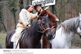 Winnetou reitet durch den Lößnitzgrund