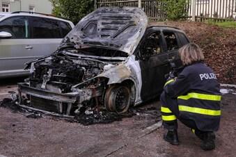 Seit einer Woche Autobrände in Dresden