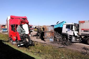 Ein Toter bei Lkw-Unfall auf A4 bei Dresden