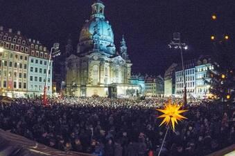 Demonstration für ein weltoffenes Dresden