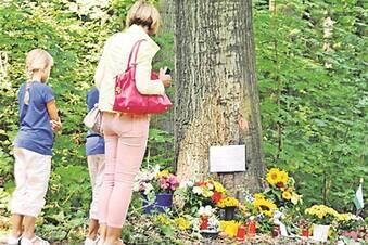 Trauer am Moritzburger Straßenrand