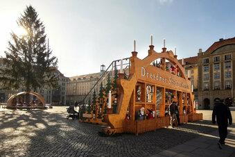 Dresdner Striezelmarkt wird vorbereitet