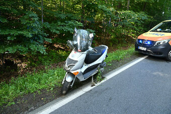 Roller-Unfall auf alter B178