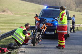 Motorradfahrer in Mügeln schwer verletzt