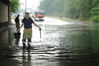 Behinderungen durch Unwetter in Dresden
