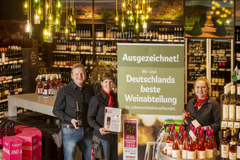Beste Weinabteilung steht in Radebeul