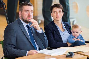 Petry erscheint mit Baby im Landtag