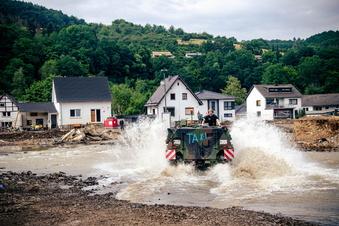 Wie Sachsen in den Flutgebieten helfen