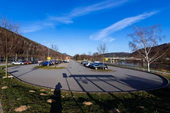 Parkplatz in Bad Schandau live im Netz
