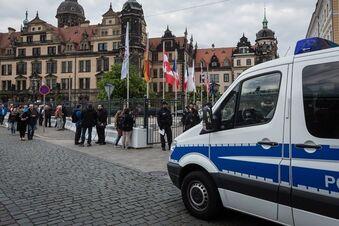 Hunderte Polizisten schützen Elite-Treffen in Dresden
