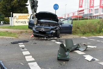 Schwerer Unfall an B169-Kreuzung in Ostrau
