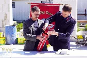 Gröditz legt Grundstein für Feuerwehrhaus