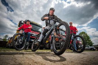 Gerüstbauer setzen aufs Radfahren