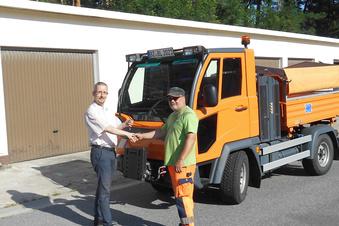 Neues Multicar-Fahrzeug für den Bauhof Lauta