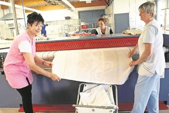 Wäscherei läuft im Notbetrieb