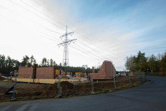 Graupa: Jetzt werden die Wände bei Penny gemauert
