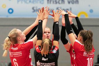DSC-Volleyball-Frauen siegen vor einer Minus-Kulisse