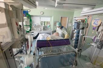 Corona: Ein Patient auf Intensivstation