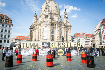 Protest: Dresdner Künstler in Not