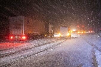 Schneefall: Unfälle in Meißen und Döbeln