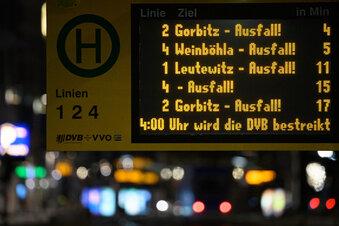 DVB-Streik in Dresden: Das müssen Sie wissen