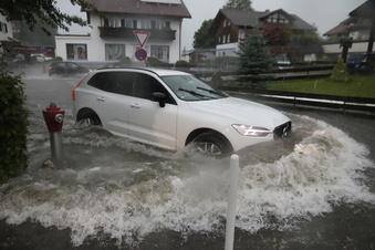 Erneut ziehen Unwetter über Deutschland