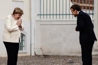 Merkel und Macron demonstrieren Einigkeit