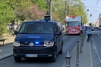 Demo für Flüchtlinge in Dresden