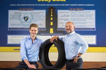 Das neue Führungsduo im Reifenwerk