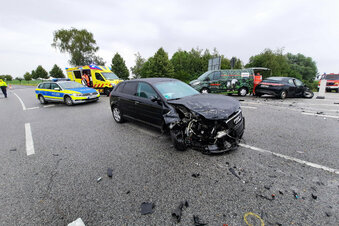 Bautzen: Crash auf Unfallkreuzung