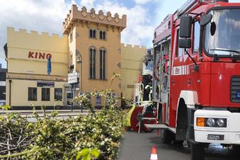Brand im Kinogebäude