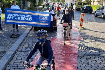Dresden: Demo für durchgängigen Radweg