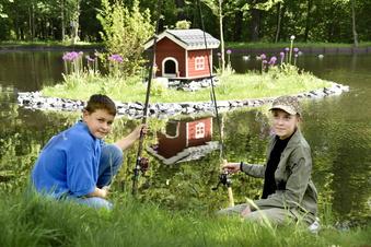 Ottendorf: Junge Angler pflegen Mühlteich