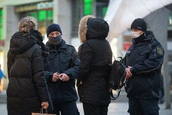 Geldstrafe für Maskenmuffel in Dresden