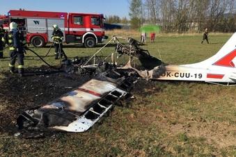 Flugzeug in Liberec abgestürzt