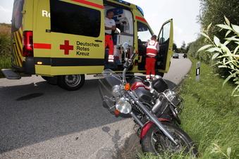 Zwei Motorradunfälle im Müglitztal