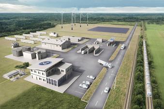 Bau-Vorbereitungen fürs Wasserstoffkraftwerk