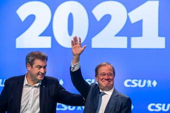 Laschet und Söder wollen geschlossen aus Umfragetief