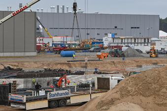 Großkontrolle bei Tesla-Gigafabrik in Grünheide