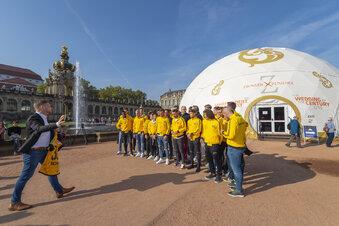 Dynamo zu Besuch im Zwinger