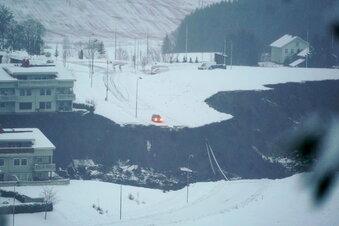 Großer Erdrutsch im Süden Norwegens