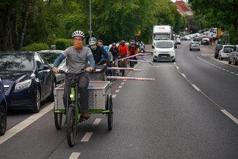 Radverkehr: Demo am Gefahren-Hotspot