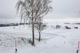 Schneedecke im Osterzgebirge wächst